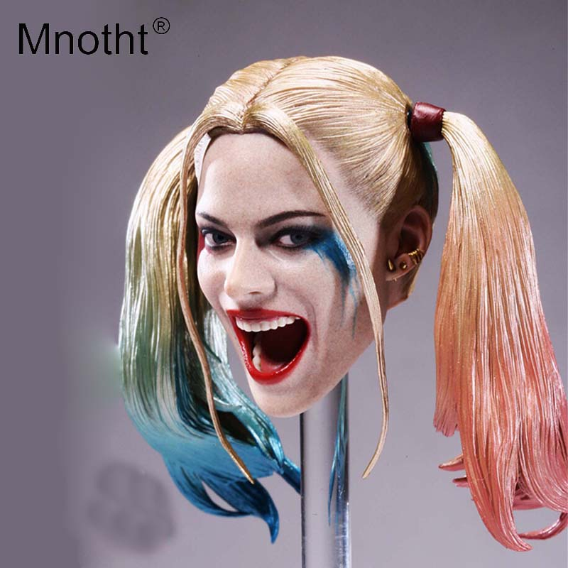 Mnotht 1:6 Joker Head Sculpt suicide squad Harry Quinn Smiling face Head Carving Model For 12in Action Figure Collections Toy m3