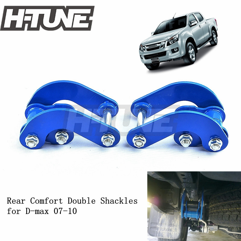 H-TUNE 4x4 Accesorios Rear Leaf Spring Suspension Comfort Double G-Shackles Kits For Rodeo D-MAX 2007-2011