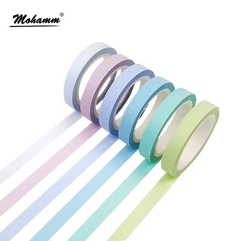 8mm Width Colorful Rainbow Japanese Decorative Adhesive Tape Masking Washi Tape Diy Scrapbooking Tools Sticker Label aagu 1pc 8mm 7m label stationery red black dot stripe washi tape decorative masking tape lovely high viscosity paper sticker