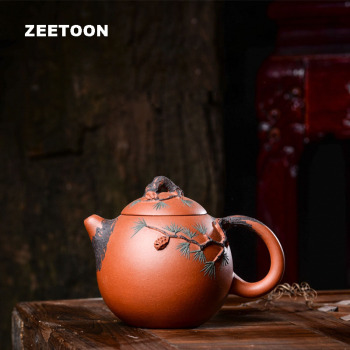 250cc Authentic Yixing Teapot Pine Needles Dragon Egg Pot Master Handmade Purple Clay Tea Set Tea Pot Kettle Creative Home Decor