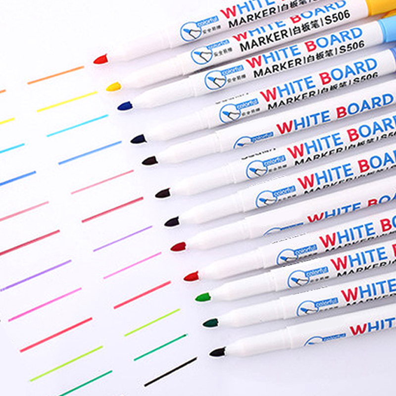 Hot Sale 8/12 pcs Fine Colorful Whiteboard Marker Pen Dry Wipe Erasable Drop hot sale ir educational interactive digital whiteboard