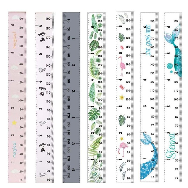 Props Wooden Wall Hanging Baby Height Measure Ruler Wall