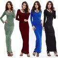 2016 nuevas mujeres del vestido atractivo del club del vestido de fiesta de invierno moda bodycon de manga larga vestidos calientes de la venta del vendaje vestidos