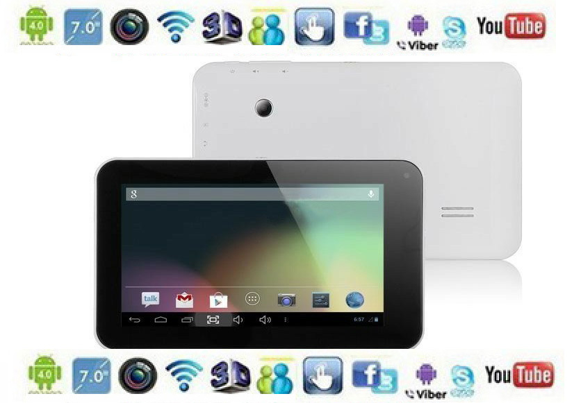 Dual Core 7 Inch Capacitive Screen 8G Android 422 HDMI OTG WIFI GPU Mali 400MP Tablet PC Dual Camera cheap price tablet pc