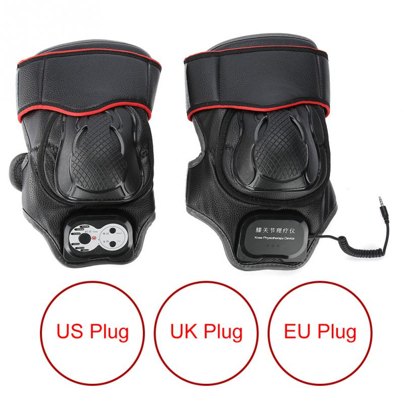 Knee Joint Physiotherapy Massager Knee Pain Relief Vibration Heating Massage Machine US UK EU Plug цена 2017
