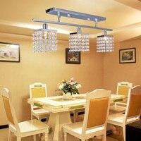 Frete grátis lustre de cristal com 3 pçs g9 luzes lâmpada decoração para casa iluminação-design linear 220-240 v