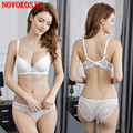 3f3a72c06d BS49 2018 Women Summer Panties Set White Lace Sexy Thin Underwear Black  Unlined Back Two Hook Push Up Bra With Brief SetUSD 14.85 set