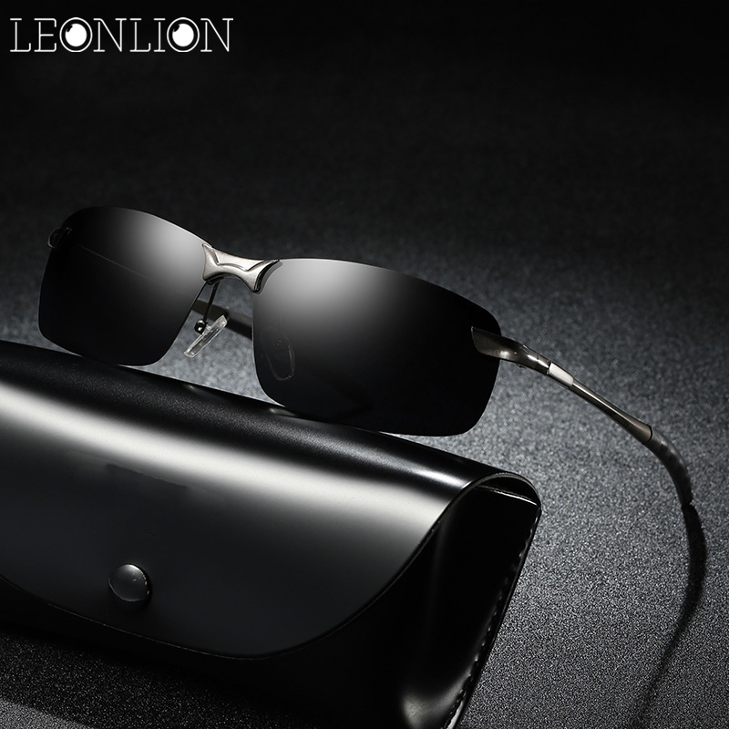 685abb29334 LeonLion Top Brand Designer Sunglasses Men Alloy Original HD Polarized  Driving Fishing Eyewear Classic Retro Glasses