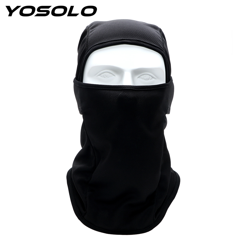 YOSOLO Balaclava Hood Headgear Thin Soft Breathable Mask For Moto Bicycle Cycling Motorcycle Face Mask Full Face And Neck