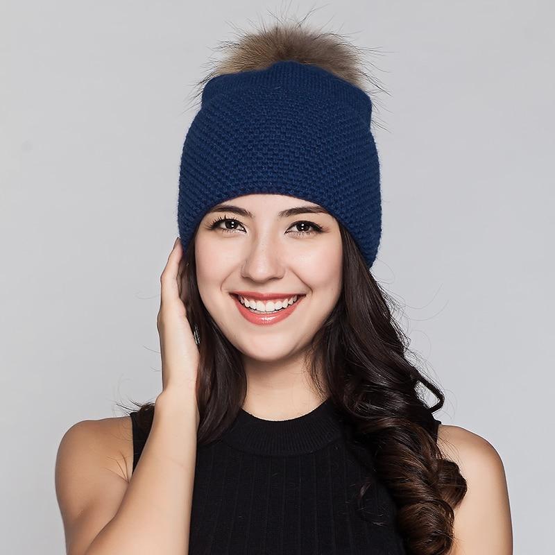 Charles Perra Ženske kape od vunene pletene kapute s velikim - Pribor za odjeću - Foto 4