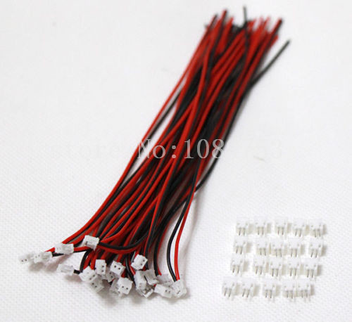 100 SETS Mini Micro ZH 1.5 2-Pin JST Connector with Wires Cable mini micro jst 2 0mm t 1 6 pin connector w wire x 10 sets 6pin 2 0mm