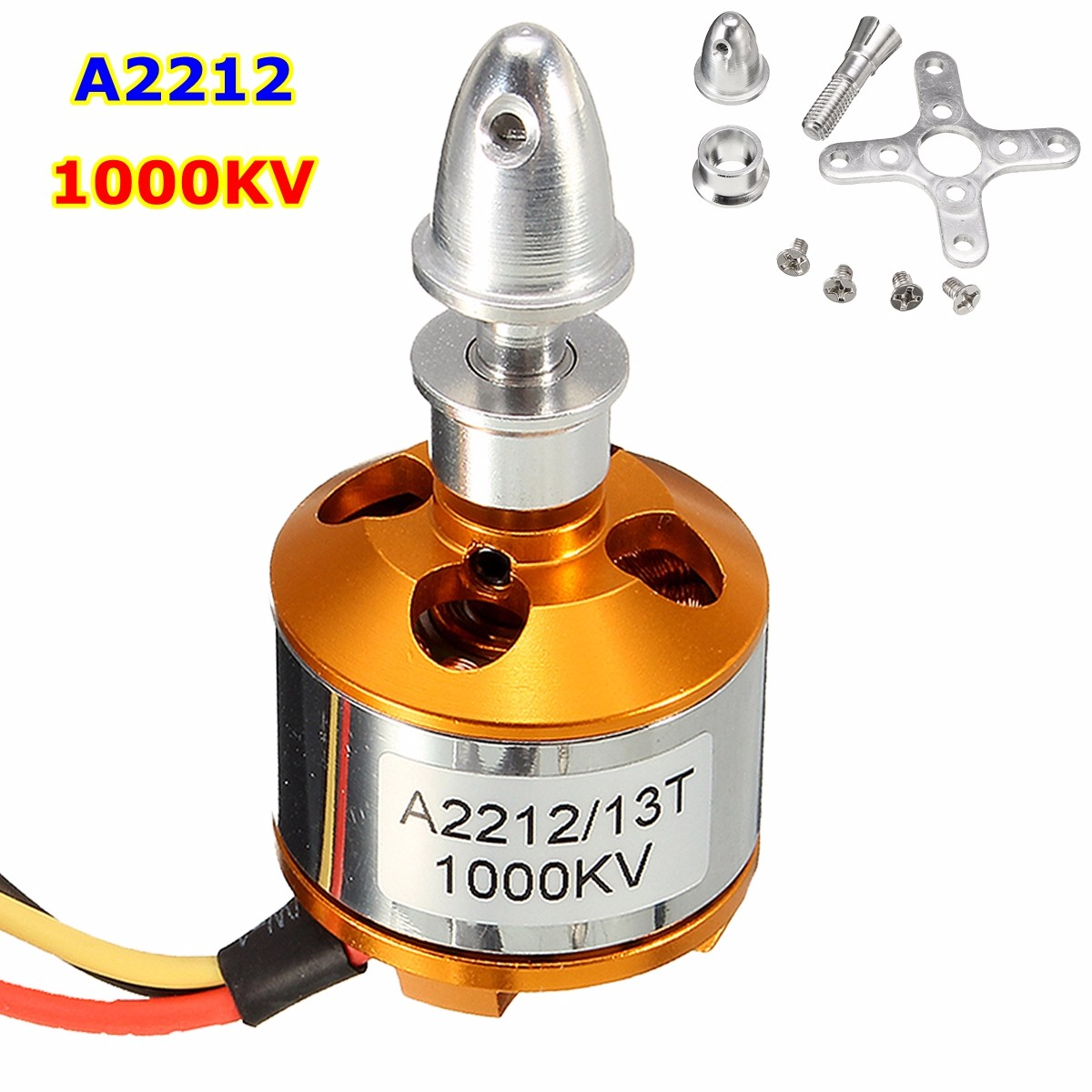 1000Kv A2212 Brushless Drone Outrunner Motor For Aircraft Helicopter Quadcopter x team xto 2212 850kv forward outrunner brushless motor for helicopter silver