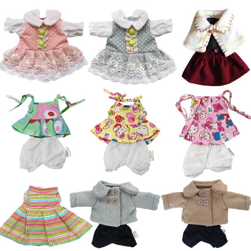 30cm Doll Clothes For Rabbits/Cats/Bears Plush Toys Dress Skirt Coat Clothes Accessories For 1/6 BJD Dolls Girls Kids Gifts