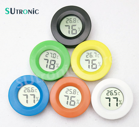 Mini Digital Thermometer Electronic Hygrometer Round Temperature Humidity meter tester for Aquarium Freezer Refrigerator House ...