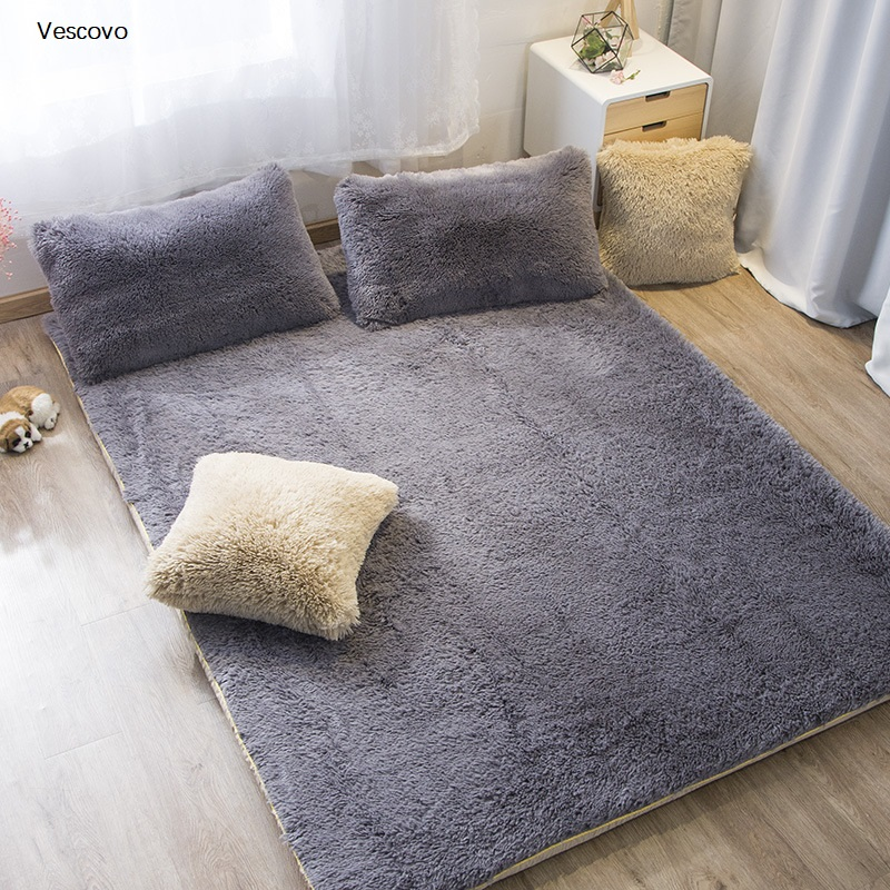 Vescovo Foldable Plush Mattress Thickening Coral velvet Tatami Soft Super Warm Fleece Cushion Dormitory Hotel Winter