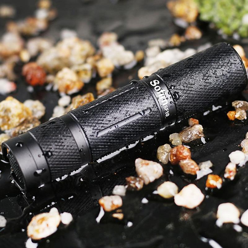 SF10 Powerful LED Flashlight EDC Pocket Light Torch Cree XPG R5 Mini flashlight AA 14500 Waterproof Lanterna cycling camping skilhunt ds15 cree xm l2 led edc waterproof flashlight torch 5 modes 240lm 1 x 14500 or aa battery