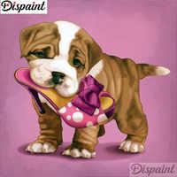 """Dispaint полный квадратный/круглый дрель 5D DIY Алмазная картина """"Обувь для собак пейзаж"""" 3D вышивка крестиком 5D домашний декор A12299"""