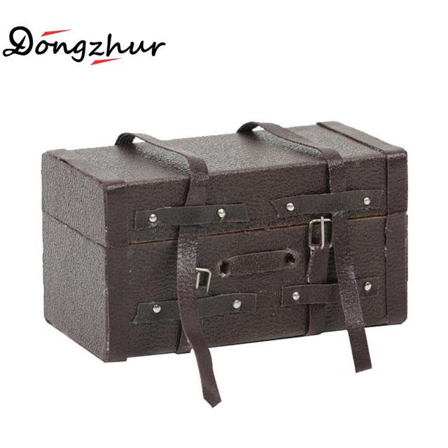 US $3 12 27% OFF|Dongzhur 1:12 Doll Wooden Toy House Diy Model Dollhouse  Miniature Dollhouse Accessories Furniture Mini Vintage Leather Retro Box-in