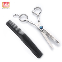KIKI beauty world Hair Thinning Scissors 6 0 inch Professional barber scissors with comb HRC50 52