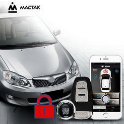 MACTAK Corolla 2011 akcesoria samochodowe centralny zamek z pilotem System komfortu PKE aplikacji telefonu System zdalnego uruchamiania silnika samochodu Alarm samochodowy Push 963