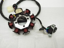 A27 8-Coil Magneto Alternator Stator For -8 Chinese Scooter Moped ATV Go Kart Quad Engine Ignition 8 Coil 5 Wires