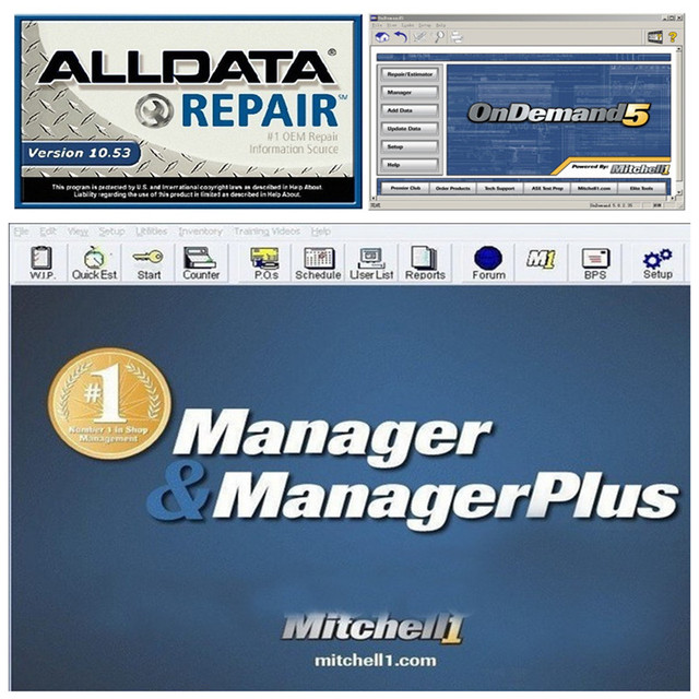 all data auto repair software Alldata 10.53 and Mitchell ondemand ...