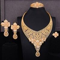 GODKI Famous Brand Super Luxury Gold Lariat Party Dress Jewelry Sets For Women Wedding Naija Bridal Cubic Zircon CZ Jewelry 2019