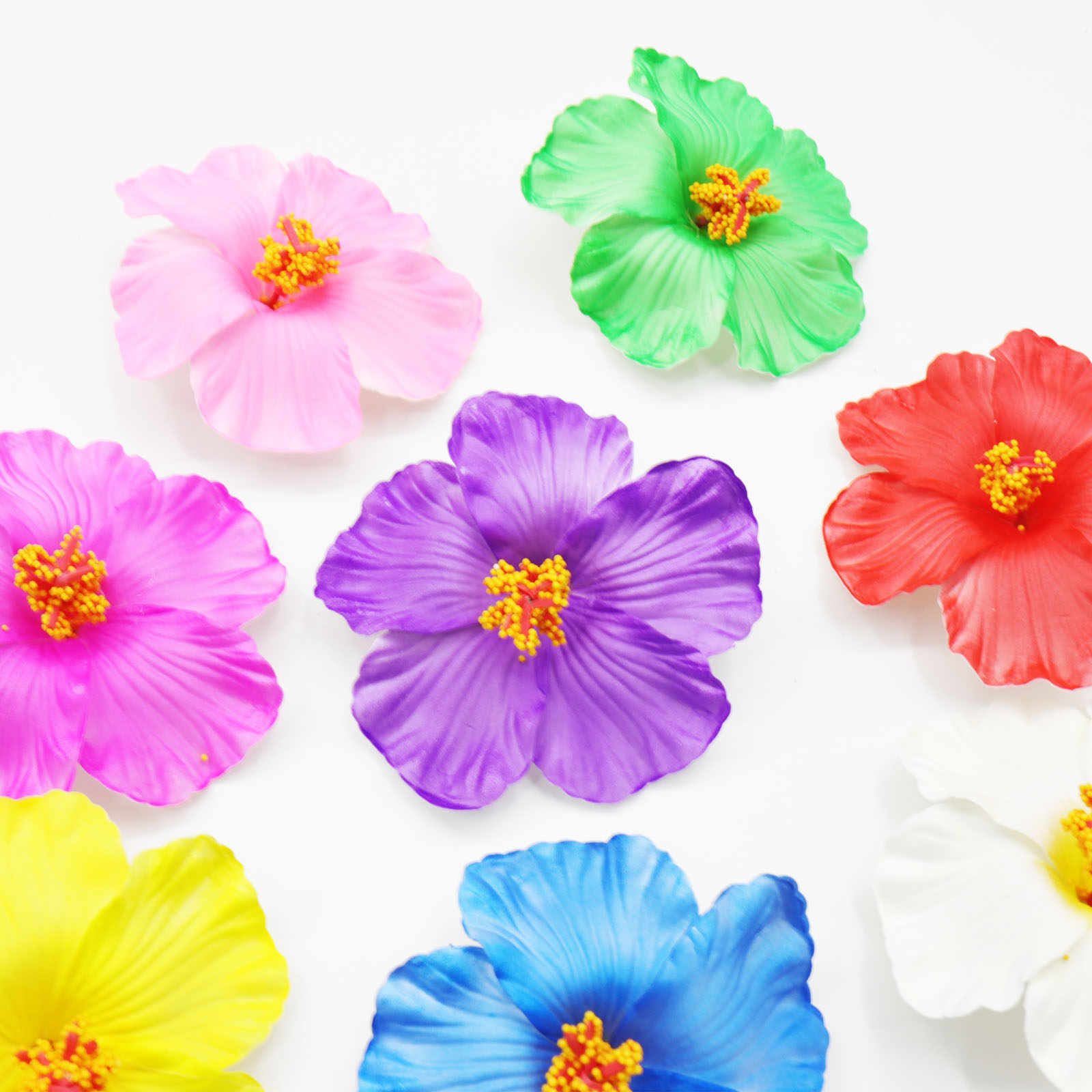 Detail Feedback Questions About 10pcs Colorful Artifical Hibiscus