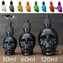 7 Color Scrub skull bitter bottle of medicine dropper BITTER BOTTLE 30/60/120ml