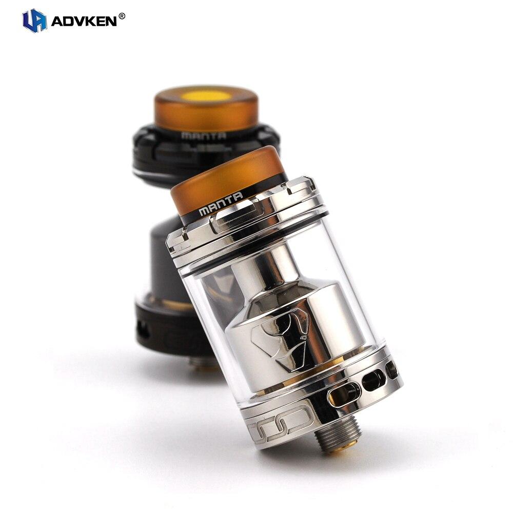 Originale Advken Manta RTA Serbatoio Atomizzatore 24mm 5 ml/3.5 ml Capacità Grande Foro di Ricarica 810 drip tip 510 discussione sigaretta elettronica