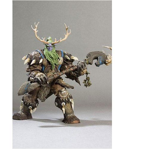 WOW World of War Elf DRUID BROLL BEARMANTLE BOXED ACTION FIGURE STATUE TOY state of wow бейсболка wow модель 2587674