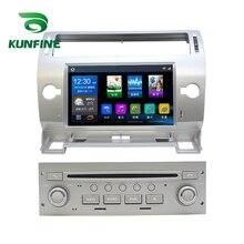 Quad Core 1024*600 Android 6.0 Car DVD GPS di Navigazione Lettore Deckless Auto Stereo per Citroen C-Quatre 2008-2011 Headunit Radio