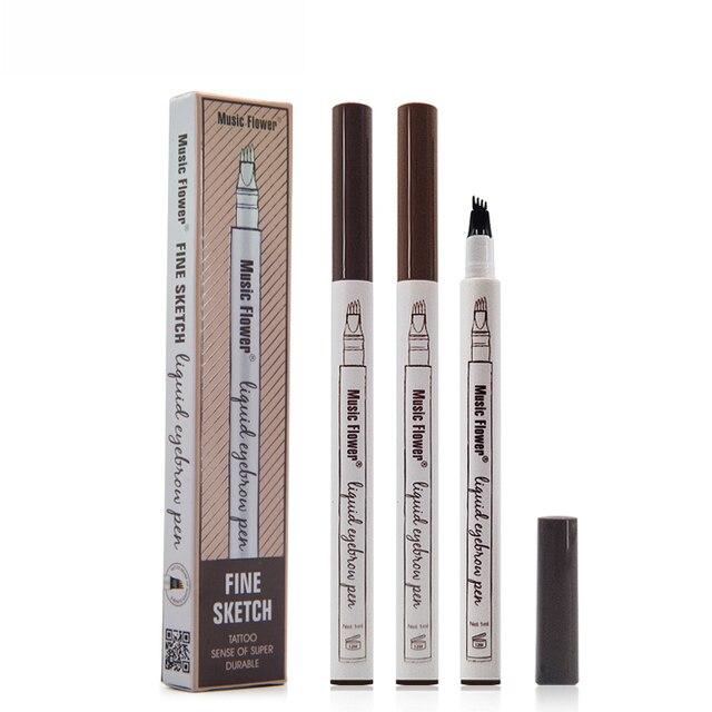 1 pieza lápiz de cejas mujer chica impermeable mejor venta 2018 productos Punta de horquilla ceja tatuaje lápiz de cejas Popular lápiz