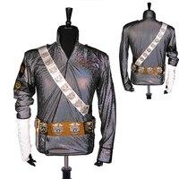 Nadir El Yapımı MJ Michael Jackson KÖTÜ Tehlikeli Sikişmayi Lazer Ceket Kemer Set Performans Hediye Imitasyon Gösterisi Müzik Yıldızı Toplama