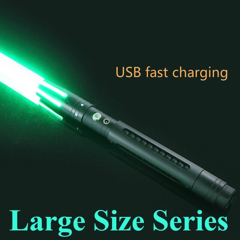 100 cm sable de luz espada de Metal RGB/láser de Color fijo Cosplay Boy Gril juguete intermitente para niños Luz de regalo al aire libre creativo Wars Juguetes