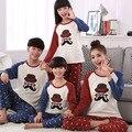 Nueva Llegada de Otoño Invierno Para Mujer Pijama Pareja de Dibujos Animados Pijamas Set Señora Familia Equipada de Ropa de Las Mujeres ropa de Dormir En Casa
