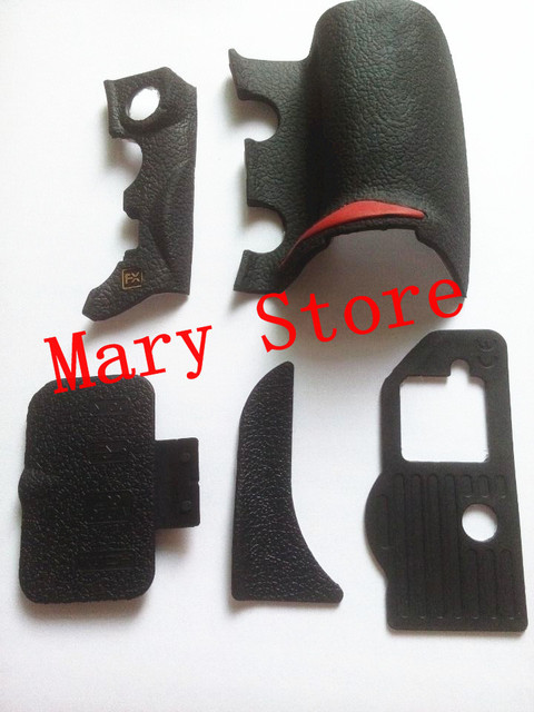 New OEM Rubber Six Parts Replacement Part For Nikon D700 -5 Parts With Tape Digital Camera
