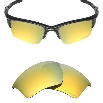 Oakley Half Jacket 2.0 | Mryok + POLARISIERTEN Widerstehen Meerwasser Ersatzgläser Für Oakley Half Jacket 2,0 XL Sonnenbrillen 24 Karat Gold