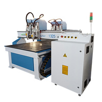New products multi heads gantry diy 1325 cnc router 3d wood cutting machine woodworking wood door kitchen cabinet design