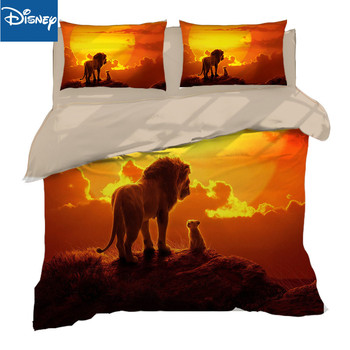 Disney lion king cheaper bedding set twin size adult bedroom decor single comforter covers 3-4pcs birthday present free shipping