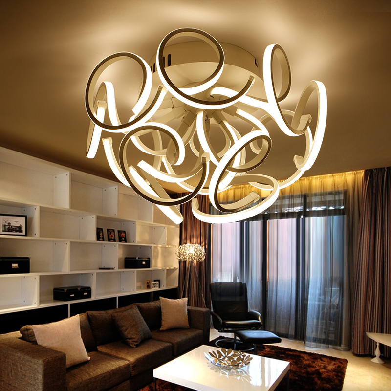 modern new led ceiling lights acrylic bedroom living room kitchen lamps plafondlamp moderne home lighting luminarias fixtures