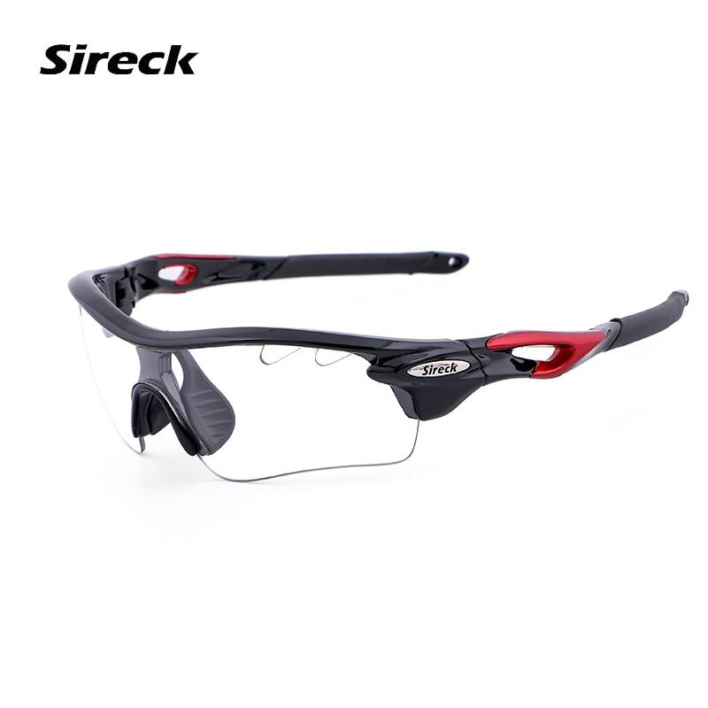 Sireck lunettes de cyclisme polarisées 2 lentilles photochromiques route lunettes de vélo conduite pêche UV400 vélo lunettes de soleil hommes femmes