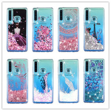 Bling Quicksand Case For Samsung Galaxy A9 2018 Liquid Glitter girl Case For Samsung A9 2018 A920F A920 SM-A920F Phone Cases case for samsung galaxy a9 2018 case electroplated glitter fish scale soft silicon phone cover for samsung a9 2018 a920 cases