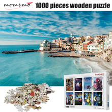 MOMEMO Bay Landscape Puzzle 1000 Pieces Wooden Beautiful Figure Jigsaw Adult Decompression Toys