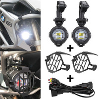 LED Auxiliary Lights for BMW Motorcycle 40W 6000K Spot Driving Fog Lamps for BMW R1200GS/ADV/F800GS/F700GS/F650FS