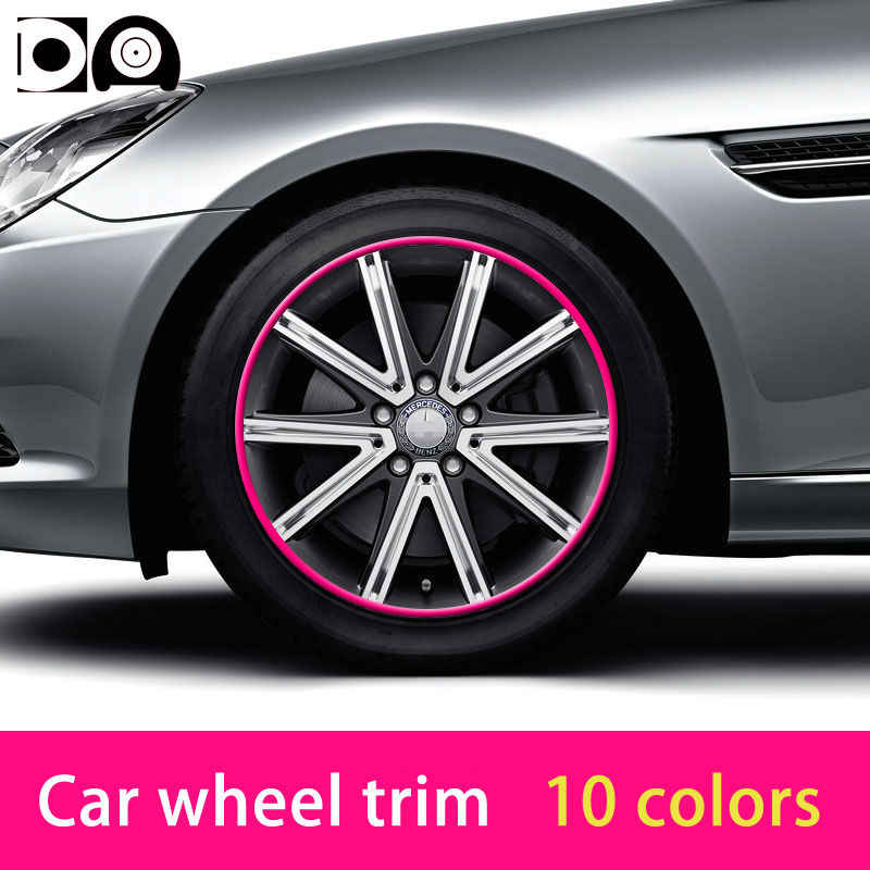 8 meters Universal Car Wheel Trim Alloy Wheel Arch Protector Rim Guard Adhesive Roll Anti-collision strip fit all car models