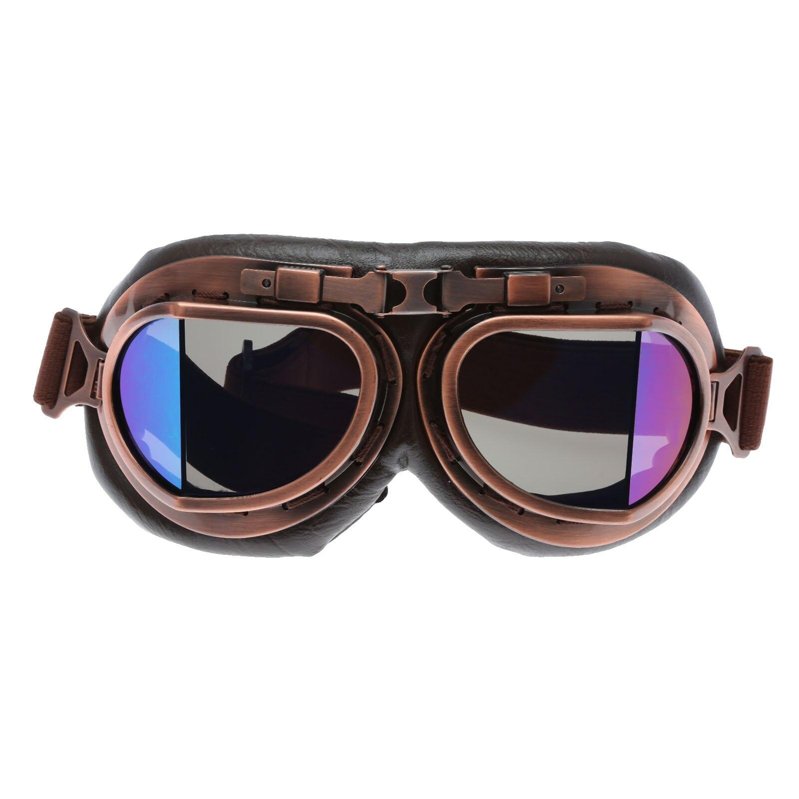 41b8fb015 Óculos de Proteção da motocicleta Retro Aviator Pilot Cruiser Steampunk  Óculos de Motocross Clássico UTV ATV Bicicleta Da Sujeira Dirtbike  Motocross Óculos