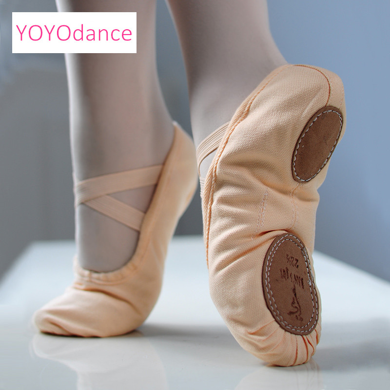 High Quality Split Sole Canvas Ballet Dance Shoes Canvas Ballet - Kasut