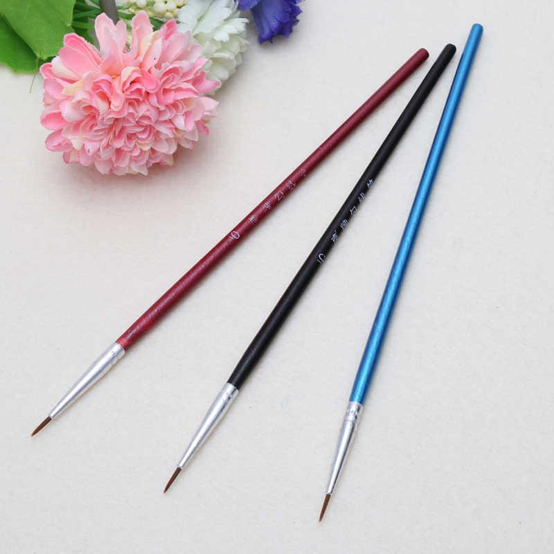 10 sztuk/zestaw delikatna ręka malowane cienki hak linia długopis dostaw sztuki do rysowania artystycznego długopis pędzel szczotka nylonowa akrylowe długopis do malowania