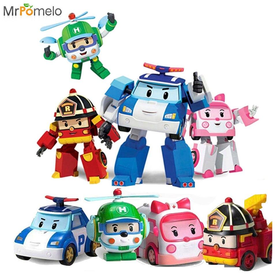 4 Pcs Pack Robot Untuk Anak Keren Kartun Mainan Poli Transformasi Robot Mobil Mainan Permainan Robot Action Figure Mainan Untuk Anak Laki Laki Terbaik Hadiah Robots For Kids Toys For Boys Carsrobot Toys Kids